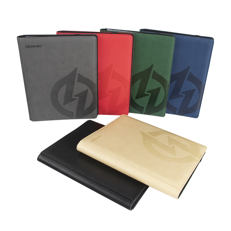 Wholesale 9 pocket premium PU card binder for board game