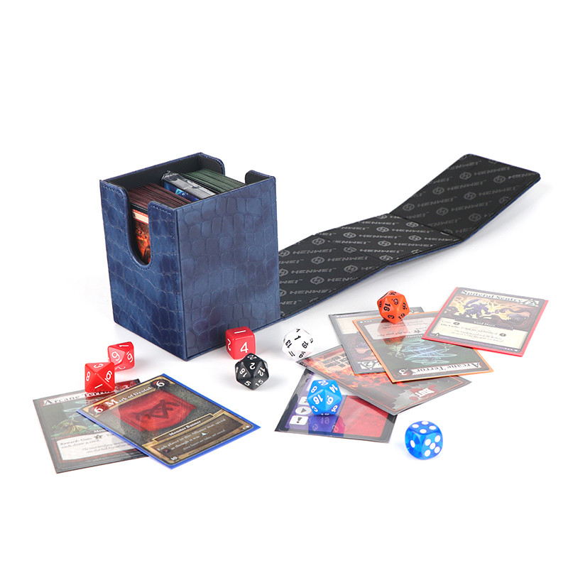Kirin flip deck box for card game – PU deck protector