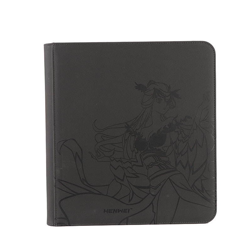 Custom 12 pocket card collection binder LUYANLING card holder album