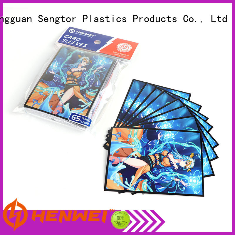 HENWEI trading card sleeves manufacturer for wholesale