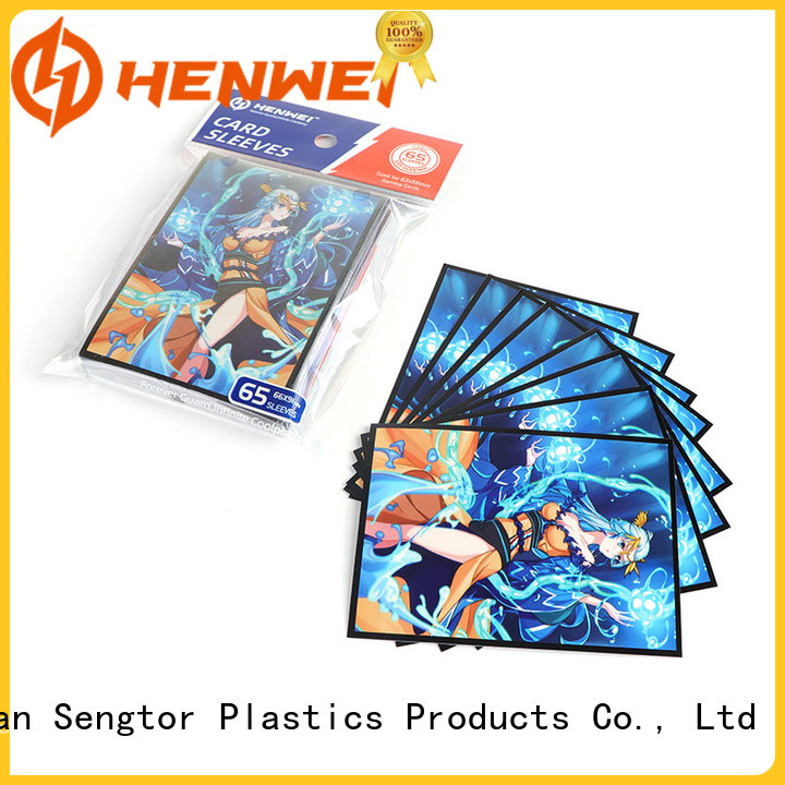 HENWEI fantastic trading card sleeves overseas trader for wholesale