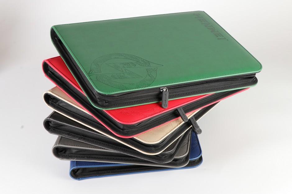 PU 9 pocket dragon design zipper protector gathering card binder