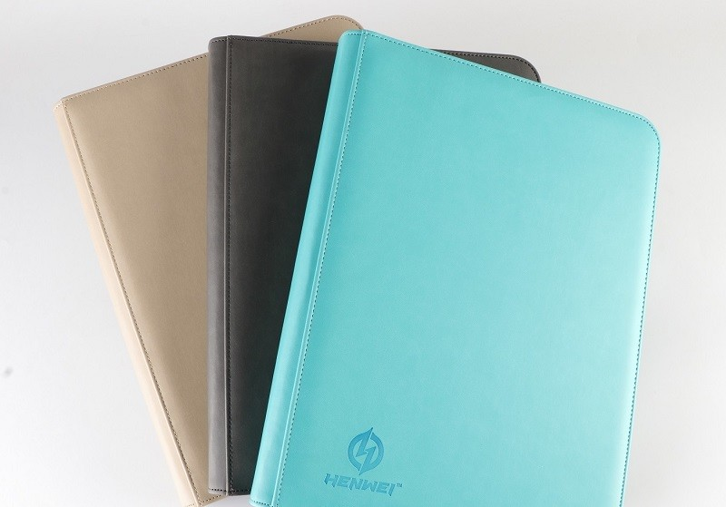PU zipper Loose-leaf gathering card binder