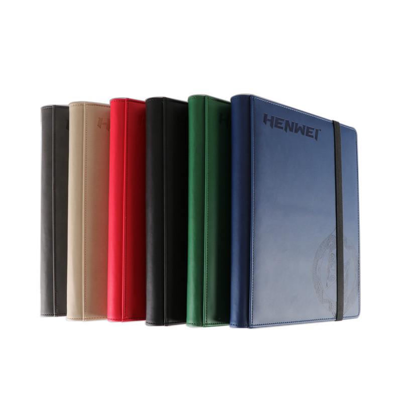 PU 9 pocket dragon design protection gathering card binder