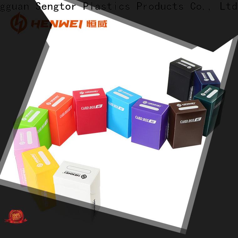 HENWEI custom card storage box overseas trader for wholesale