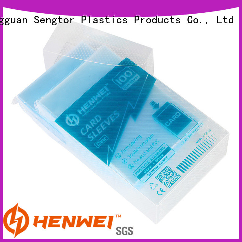 HENWEI card protector sleeves overseas trader for trader