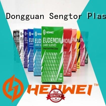 HENWEI custom custom card sleeves overseas trader for wholesale
