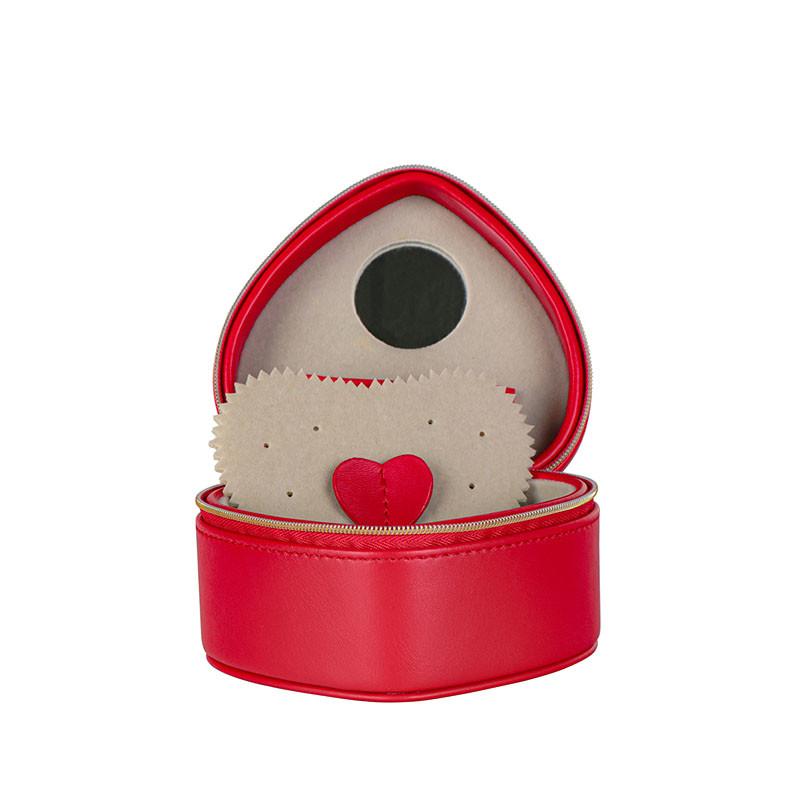 Red jewelry storage box