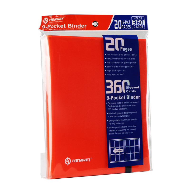 Orange PP Nine Grid Card Book
