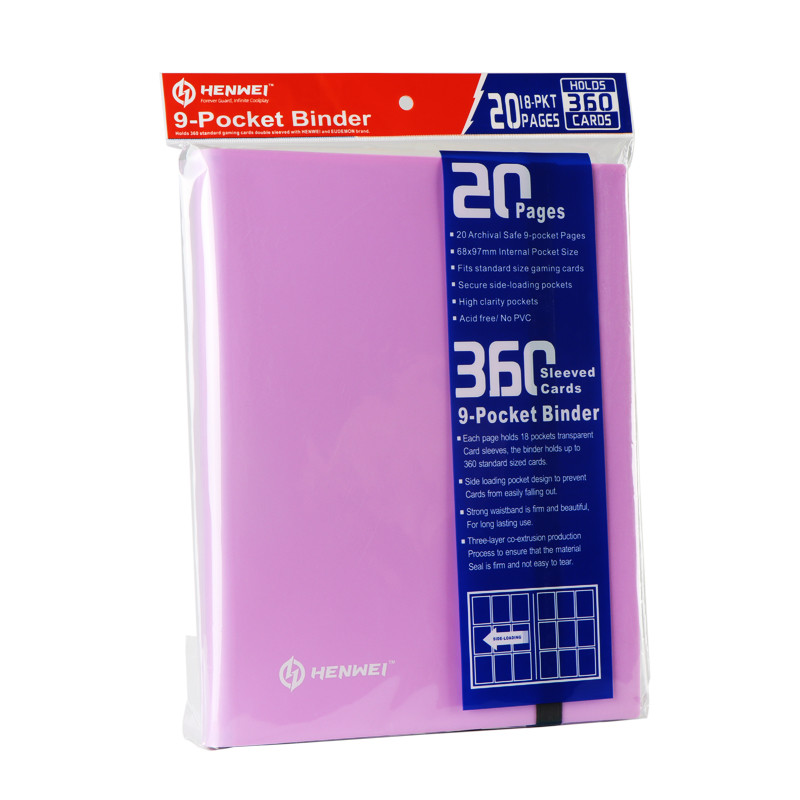 Pink PP Nine Grid Card Book