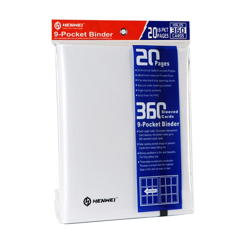 White PP nine grid card book