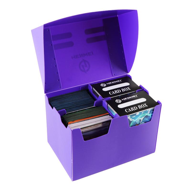 Purple four grid 300+ capacity PP card box