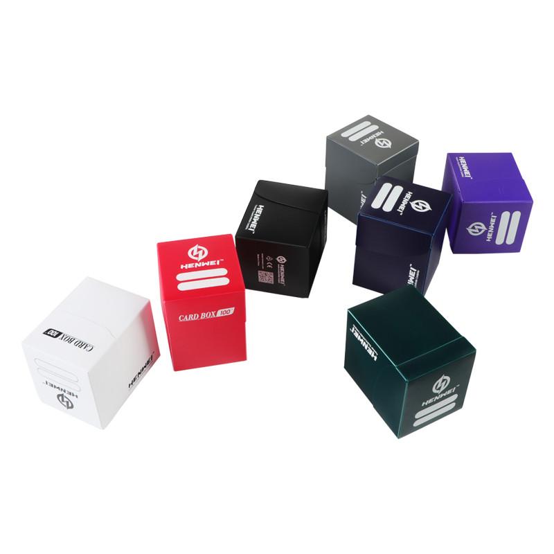 Dark blue 100+ capacity PP card box