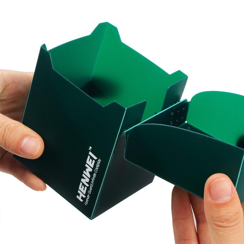 Dark green 100+ capacity PP card box