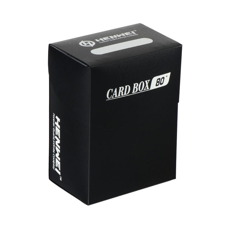 Black 80+ capacity PP card box