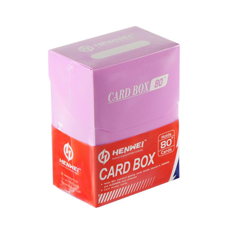 Pink 80+ capacity PP card box