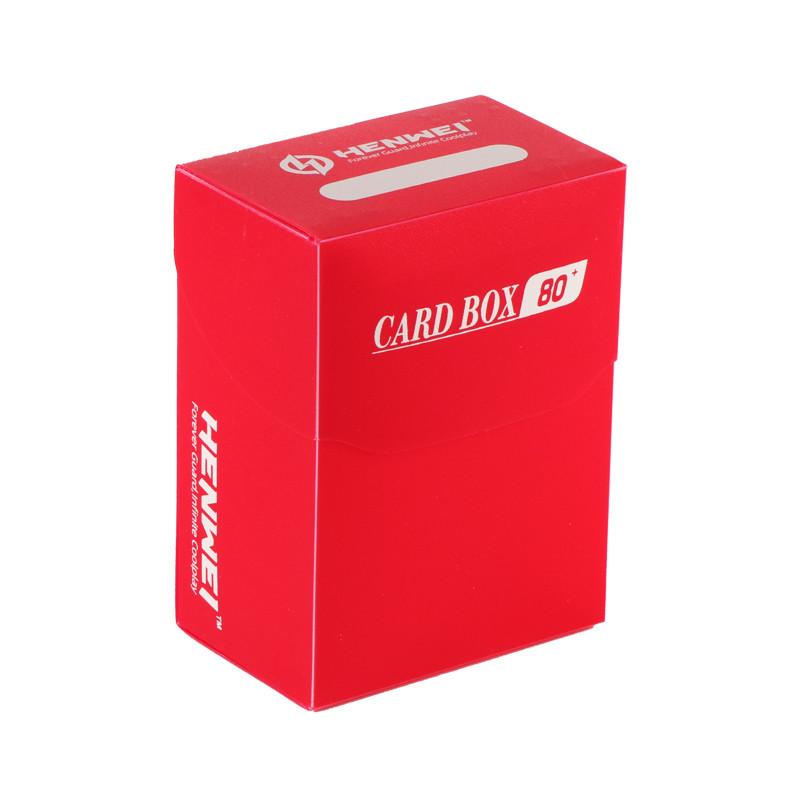 Red 80+ capacity PP card box