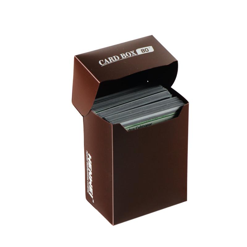 Brown 80+ capacity PP card box