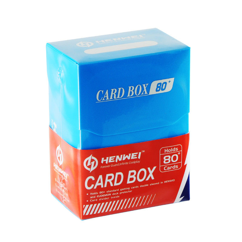 Blue 80+ capacity PP card box