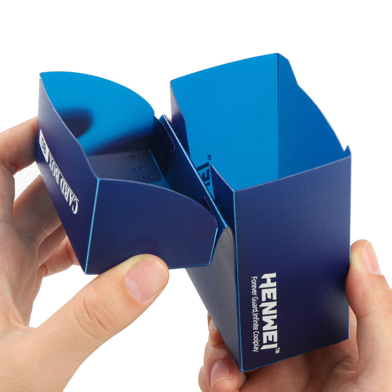 Navy blue 80+ capacity PP card box