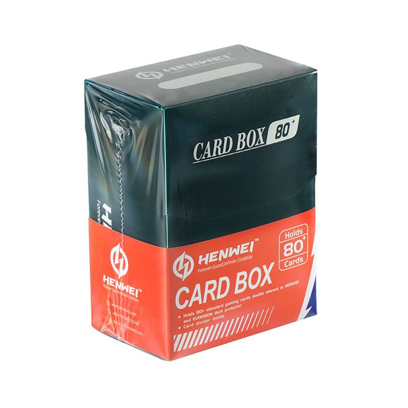 Dark green 80+ capacity PP card box