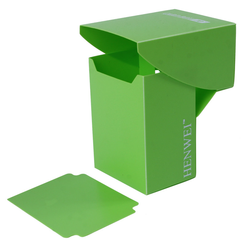Single color full cover 70+ capacity PP card box