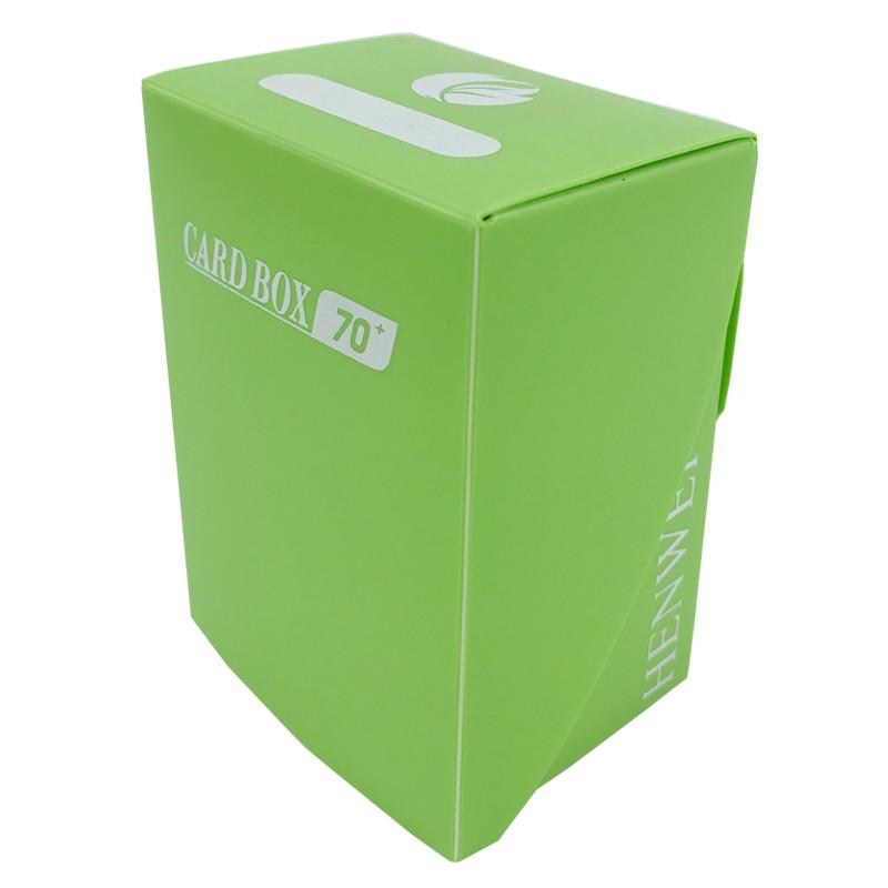 Green full cover 70+ capacity PP card box