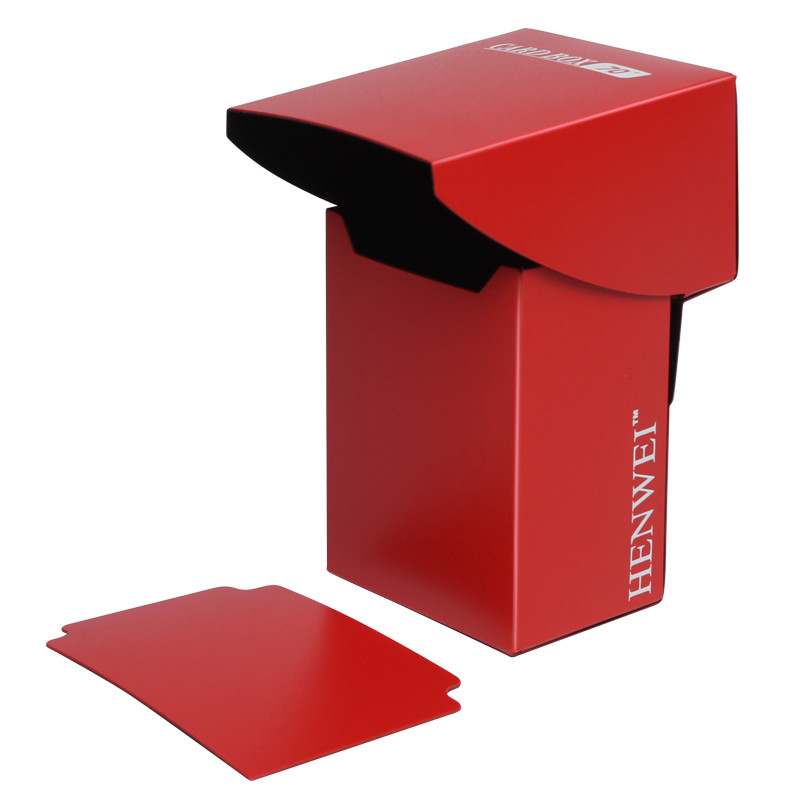 Double color full cover 70+ capacity PP card box
