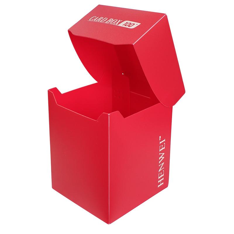 Pure color 100+ capacity PP card box