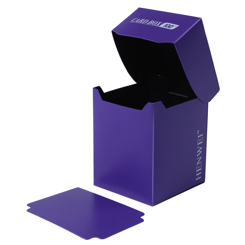 Double color 100+ capacity PP card box