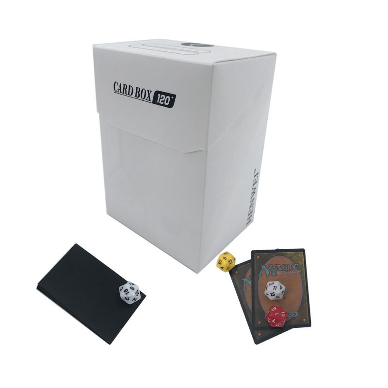 Pure color folding 120+ capacity PP card box