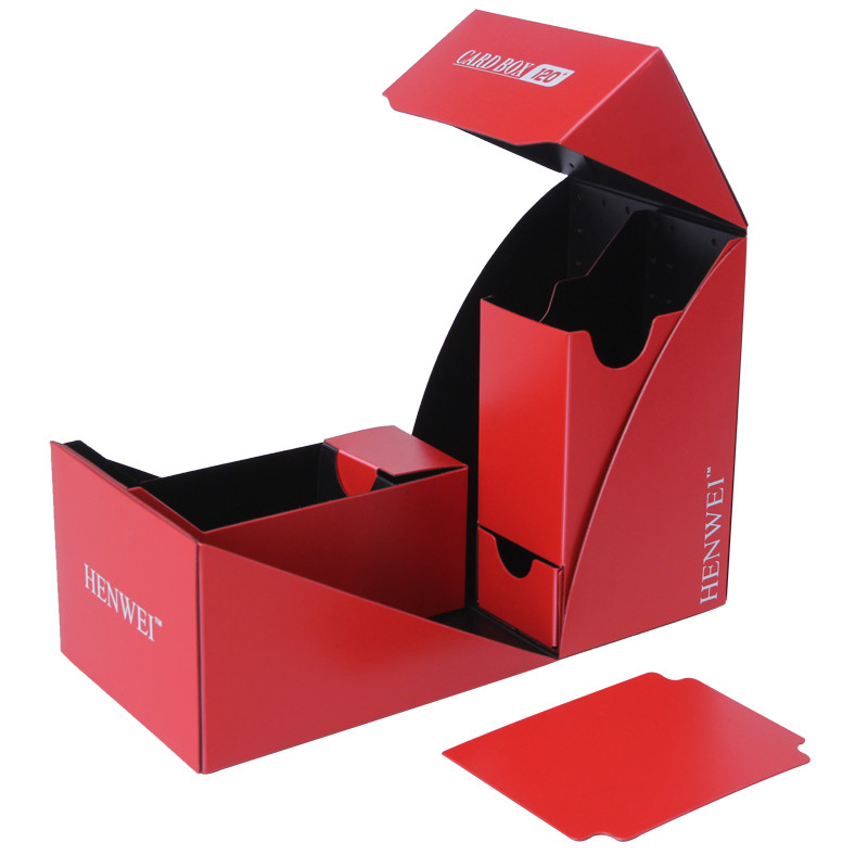 Two-color folding 120+ capacity PP card box