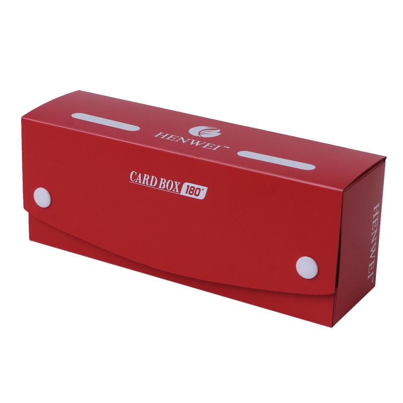 Long strip solid color 180+ capacity PP card box