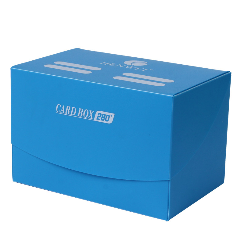 Square solid color 280+ capacity PP card box