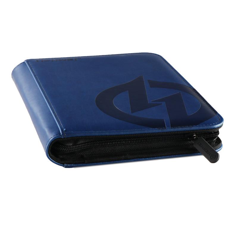 PU material blue four-pocket binder