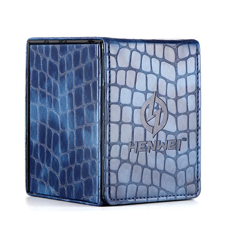 PU material Kirin series blue double door card box