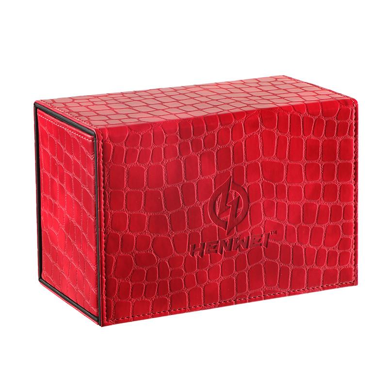 PU material Kirin flip-type red deck box