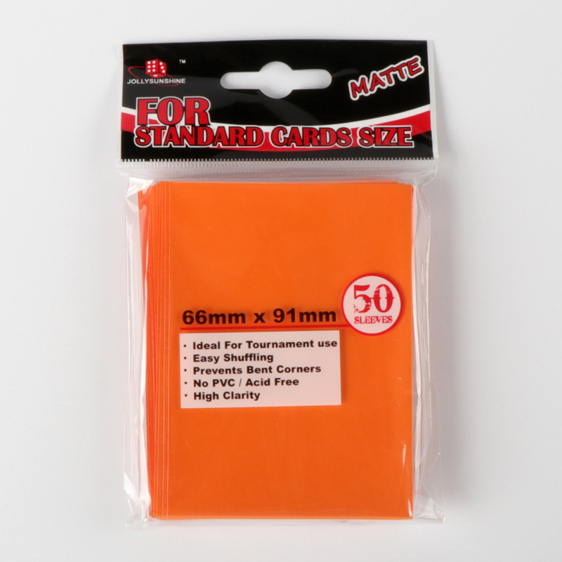 Card head bag orange card sleeves