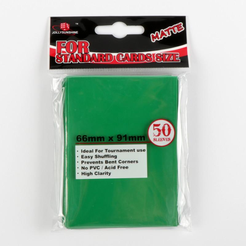 Card head bag green card sleeves