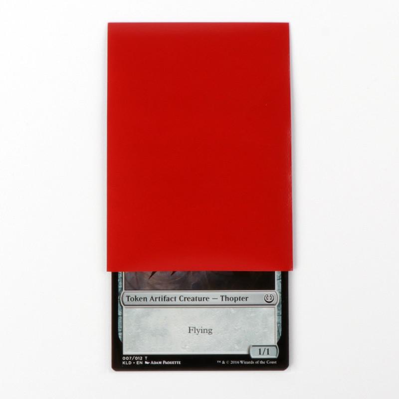 Card head bag dark red card sleeves